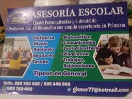ASESORIA ESCOLAR PRIMARIA A DOMICILIO MATEMATUCA COMUNICACION