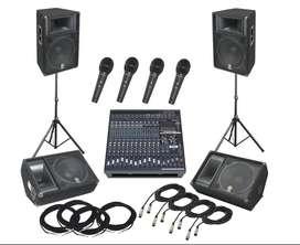 Remato Mezclador Amplificado YAMAHA EMX5016cf + 2 Cabinas Yamaha S115V