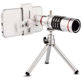 Lente Zoom 12x Para Celular Telescopio  Tripode  Control CC Monterrey