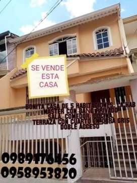 DE OPORTUNIDAD SE VENDE BONITA  CASA DE 5 HABITACIONES