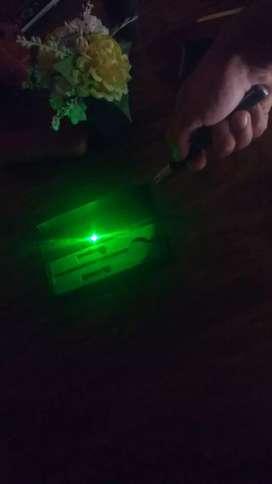 Vendo puntero Láser color verde profecional nuevo