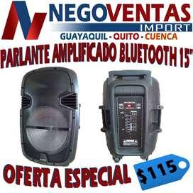 PARLANTE AMPLIFICADO  BLUETOOTH DE 15 PULGADAS