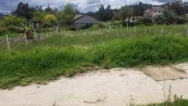 venta de lote de terreno a la vía con todas las obras listo para construir sector la florida medio ejido en san joaquin