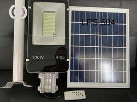 Lámpara solar 100w celda solar independiente