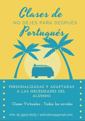 CLASES DE PORTUGUÉS VIRTUAL