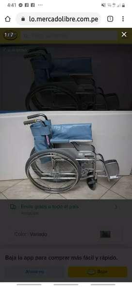 Vendo silla de ruedas plegable