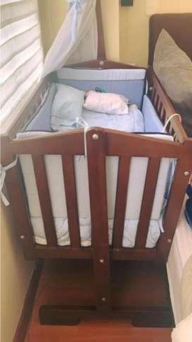 Cuna bebe mas lenceria