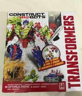Construct Bots Optimus Prime Dino Hasbro transformers de coleccion
