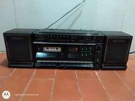 Grabadora Philips doble caset entrada auxiliar