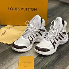 Tenis Louis Vuitton Archlight Blanco Cafe Envio Gratis