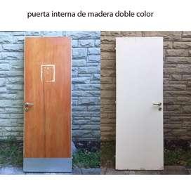 Puerta interior 0,69x2mtrs con cerradura villa Adelina