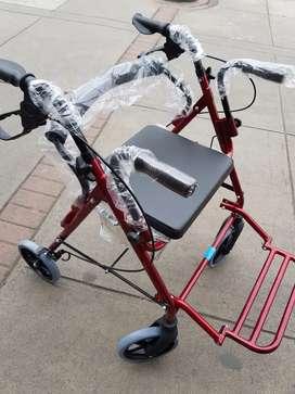 Andador con Asiento Y Posapies Aluminio