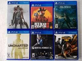 Juegos de PS4 en perfecto estado