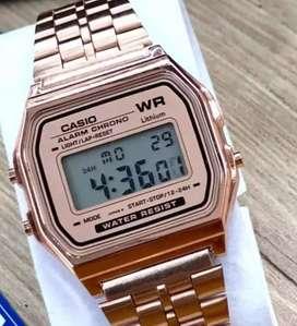 Reloj pulso oro rosa retro