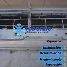 Aire , tecnico , instalación,  desintalacion,  Mantenimiento y reparación