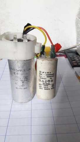 Dos Condensadores de Lavadora