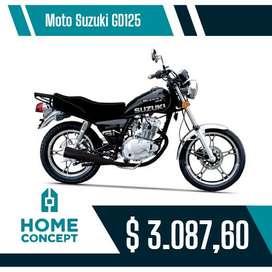 Moto suzuki modelo GN125, 5 velocidades, facilidad de pago directo