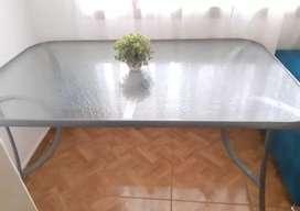 Mesa de vidrio 6 personas