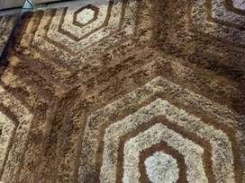 alfombra decorativa sala comedor 200x168cm marron