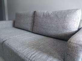 2 sofas gris excelente estado