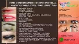 Cursos Micropimentacion Cejas, Ojos, Labios, Pestañas, BB GLOW, UÑAS