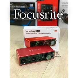 FOCUSRITE SCARLETT 2i2 MK3 - INTERFAZ DE AUDIO USB 3G
