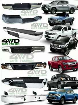 Bumpers cromados Hilux,Frontier,NP300,L200,D-Max