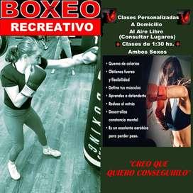 Clases particulares de boxeo recreativo y acondicionamiento físico