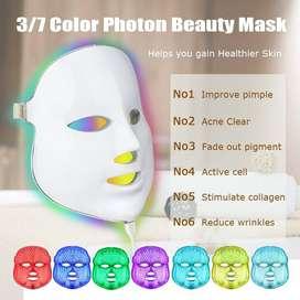 Mascara Fototerapeutica LED Profesional 7 colores