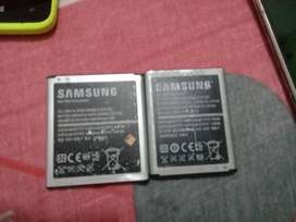 Dos baterías  de Samsung  y  uno celular blu