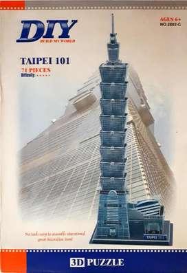 Rompecabezas 3d Torre de Taipei