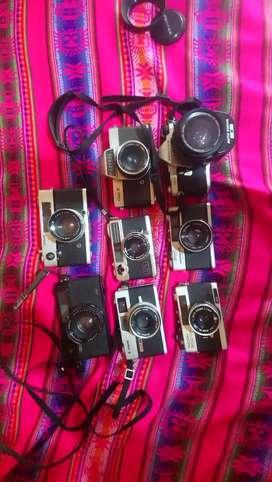 Lote de cámaras análogas