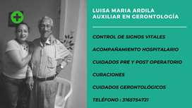 Servico de gerontólogos y cuidados de enfermeria