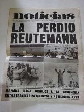 Antiguo ejemplar del diario Noticias, lunes 14 de enero de 1974.