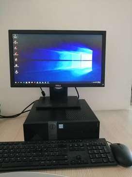 COMPUTADOR DE ESCRITORIO MARCA DELL , Pantalla de 19 pulgadas Procesador Core I7, Memoria Ram de 8 gigas, Windows 10