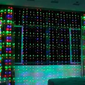Luz Cascada 9X2 Metros 600 LED Luces Navidad MULTICOLOR RF 6X1-600L