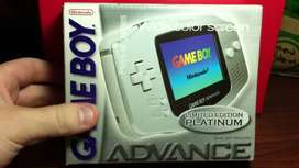 Gameboy advance platinum limited edition, nuevo en caja, sellado de fabrica