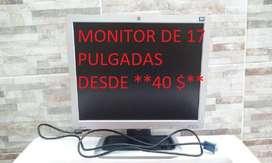 MONITORES DE MARCA DE 17 PULGADAS