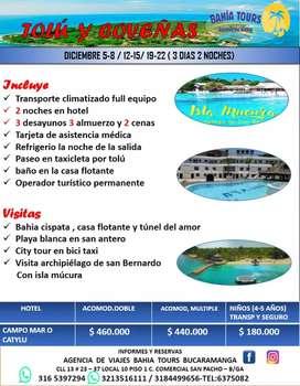TOUR TOLU COVEÑAS E ISLA MUCURA SALIDA 12 DE DICIEMBRE