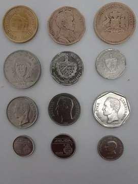 Vendo exclusiva colección de 37 monedas de varios países del mundo