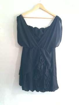 Vestido de fiesta negro Zhoue
