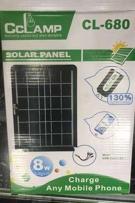 Panel solar 8w con pulpo multipuerto