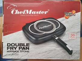 Sarten Double Fry Pan Mármol Stone 36cm - ChefMaster