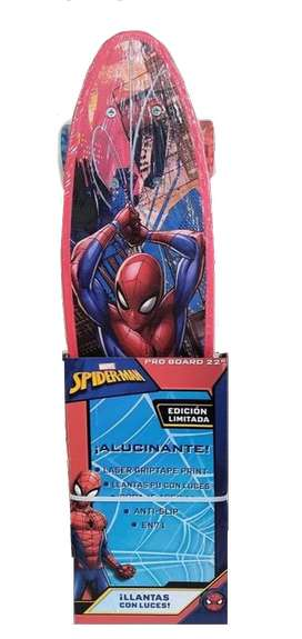 Skate De aluminio board con Luces Spiderman Marvel Electrodomésticos Jared