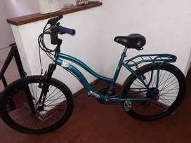 Bicicleta De Dama 26 Con Cambios