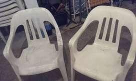Vendo sillones plasticos reforzados