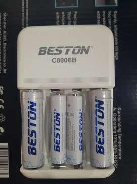 Baterias recargables con cargador