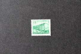ESTAMPILLA HUNGRÍA, 1951, TALLER MONTAJE DE VAGONES, USADA