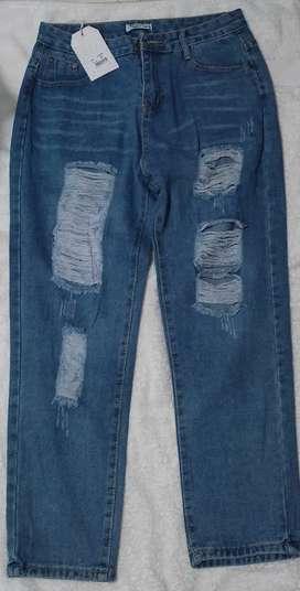 Jeans Boyfriend rígido talla disponibles 6-8_10-12