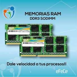 Memorias Ram ddr3 sodimm